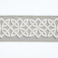 Scalamandre: Celtic Embroidered Tape SC 0005 T3282 Silver Grey