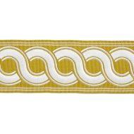 Scalamandre: Guilloche Embroidered Tape SC 0003 T3283 Brass