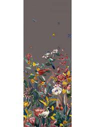 Christian Fischbacher for Scalamandre: Kotori Mural WBN 0002 9190 Dark Grey