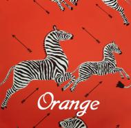 Scalamandre: Zebras Wallpaper SC 0012 WP81388M Orange