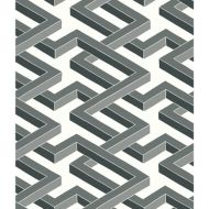 Cole & Son: Luxor 105/1002.CS.0 Black and White