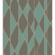 Cole & Son: Oblique 105/11048.CS.0 Teal and Black