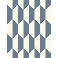 Cole & Son: Tile 105/12054.CS.0 Blue and White