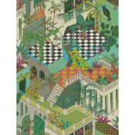 Cole & Son: Miami 105/4017.CS.0 Green and Coral