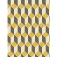 Cole & Son: Delano 105/7032.CS.0 Yellow and Black