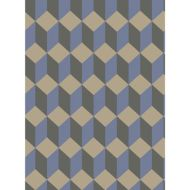 Cole & Son: Delano 105/7034.CS.0 Blue and Black