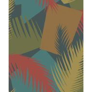 Cole & Son: Deco Palm 105/8039.CS.0 Red and Blue