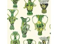 Cole & Son WP: Ardmore Khulu Vases 109/12056.CS.0 Green & White