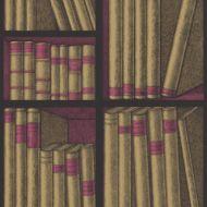 Cole & Son WP: Fornasetti Ex Libris 114/15031.CS.0 Gold/Magenta