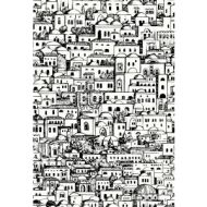 Cole & Son WP: Fornasetti Mediterranea 114/19039.CS.0 White/Black