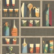 Cole & Son WP: Fornasetti Cocktails 114/23043.CS.0 Multi