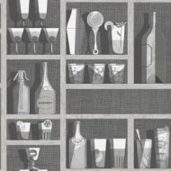 Cole & Son WP: Fornasetti Cocktails 114/23045.CS.0 Soot/Snow