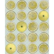 Cole & Son WP: Fornasetti Arance 114/24048.CS.0 Lemon/Seafoam