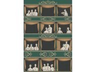 Cole & Son WP: Fornasetti Teatro 114/4009.CS.0 Racing Car Green