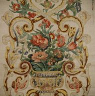Scalamandre: Baroque Floral Canvas 16136-001 Multicolor