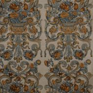 Scalamandre: Baroque Floral Canvas 16136-002 Multi & Oakwood