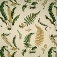Scalamandre: Elsie de Wolfe Indoor/Outdoor 16425-001 Greens on Off White