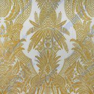 Scalamandre: East India 16482-004 Oro e Bianco