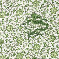 Scalamandre: Chi'en Dragon Linen Print 16558-002 Jade