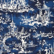 Scalamandre: Summer Palace 16561-003 Indigo