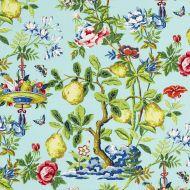 Scalamandre: Shantung Garden 16583-002 Aquamarine