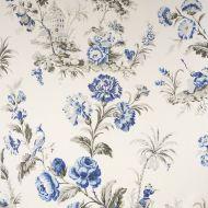 Scalamandre: Somerset Linen Print 16584-002 Porcelain