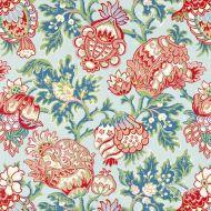 Scalamandre: Canterbury Linen Print SC 0003 16593 Aquamarine