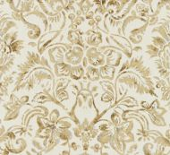 Scalamandre: Mansfield Damask Print SC 0001 16598 Ivory & Burnished Gold