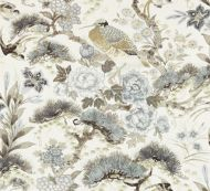 Scalamandre: Shenyang Linen Print 16601-001 Parchment