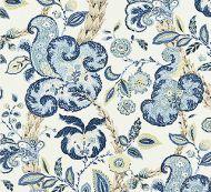 Scalamandre: Cumbria Hand Block Print 16603-003 China Blue on Ivory