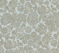 Scalamandre: Elsa Linen Print 16606-002 Silver on Skylight