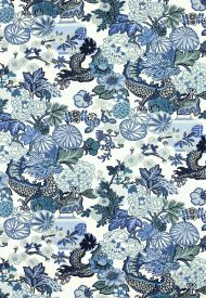 Schumacher: Chiang Mai Dragon 173272 China Blue