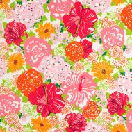 Lilly Pulitzer Resort 365 for Lee Jofa: Heritage Floral II 2016103-97 Salmon/Pink