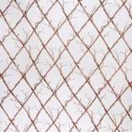 Paolo Moschino for Lee Jofa: Twig Trellis 2020166.1016.0 Brown/White
