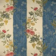 Scalamandre: Villa Lante Stripe 26401-005 Multi on Prussian Blue & Bisque