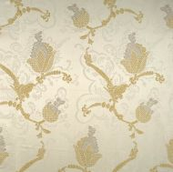 Scalamandre: Vivaldi 26715-001 Silver & Gold on Ivory