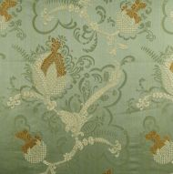 Scalamandre: Vivaldi 26715-004 Gold & Linen on Jade