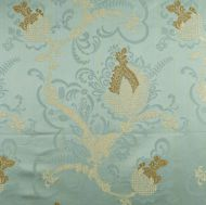 Scalamandre: Vivaldi 26715-005 Gold & Linen on Aquamarine