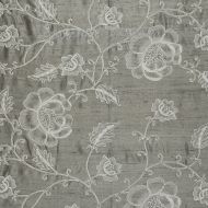 Scalamandre: Flowdery 26818-002 White on Grey