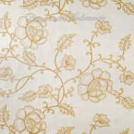 Scalamandre: Flowdery 26818-003 Beige on White