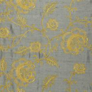 Scalamandre: Flowdery CL 0004 26818 Gold on Grey