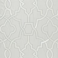 Scalamandre: Damascus Embroidery SC 0003 27073 Pearl Grey
