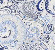 Scalamandre: Malabar Paisley Embroidery SC 0002 27124 Porcelain