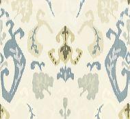Scalamandre: Mandalay Ikat Embroidery 27172-001 Cloud