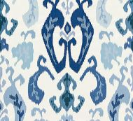Scalamandre: Mandalay Ikat Embroidery 27172-002 Porcelain