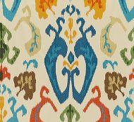 Scalamandre: Mandalay Ikat Embroidery 27172-004 Spice Market