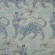 Clarence House: Tibet Print  in Pale Blue 34706-1