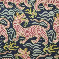 Clarence House: Tibet Print  in Navy 34706-3