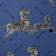 Scalamandre: Zebras Indoor/Outdoor SC 000536378 (36378-005) Denim