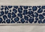 Leopard Tape in Navy